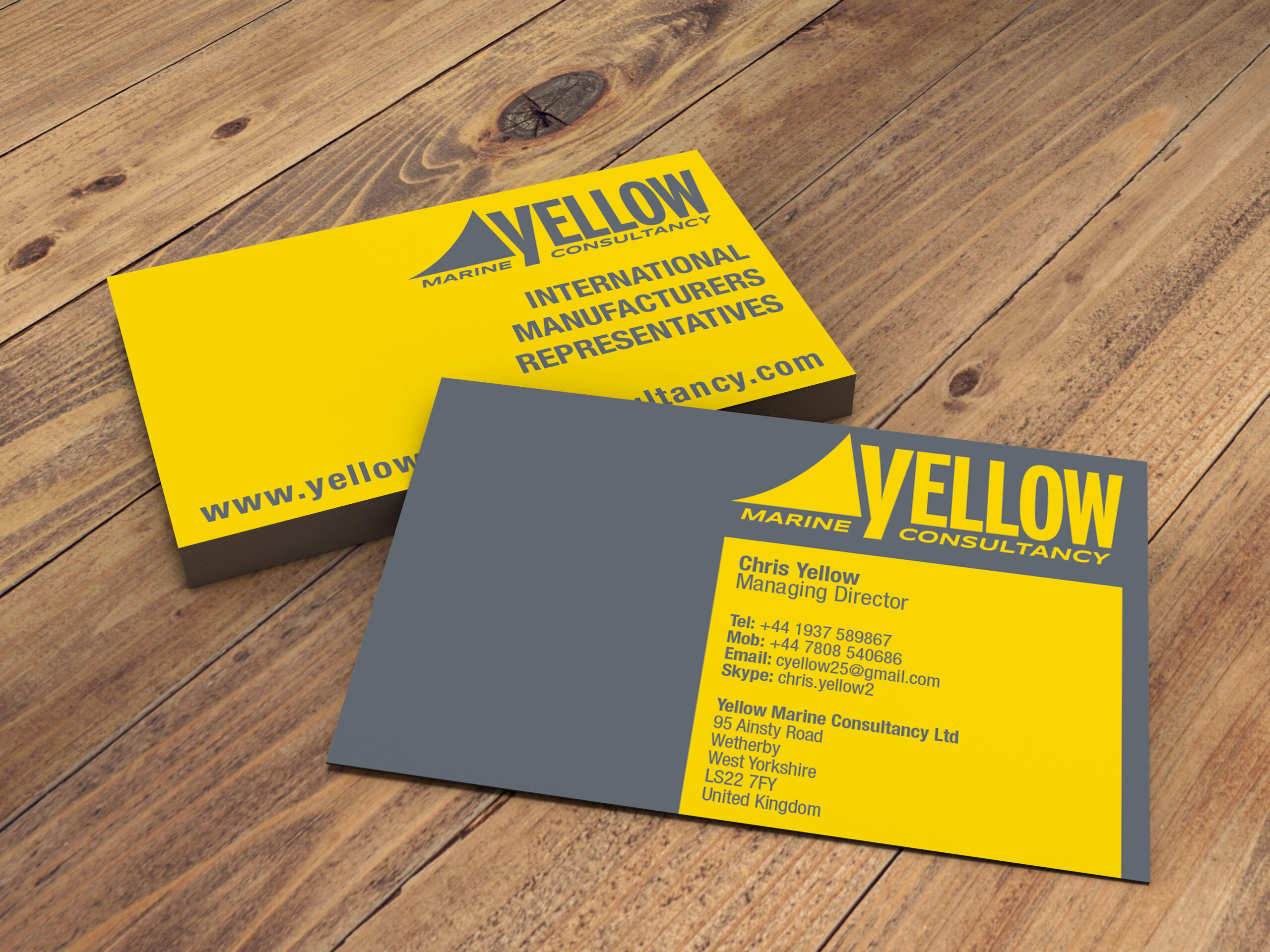 Yellow Marine Consultancy - Logo & Business Cards